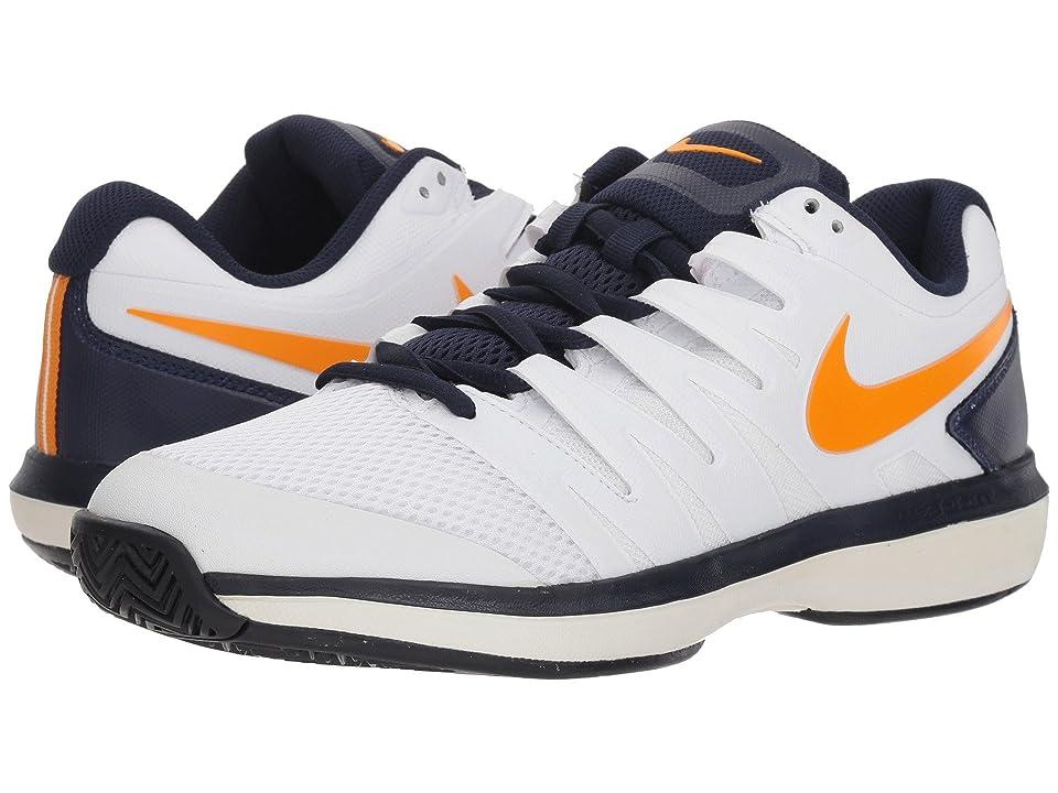Nike Air Zoom Prestige (White/Orange Peel/Blackened Blue/Phantom) Men