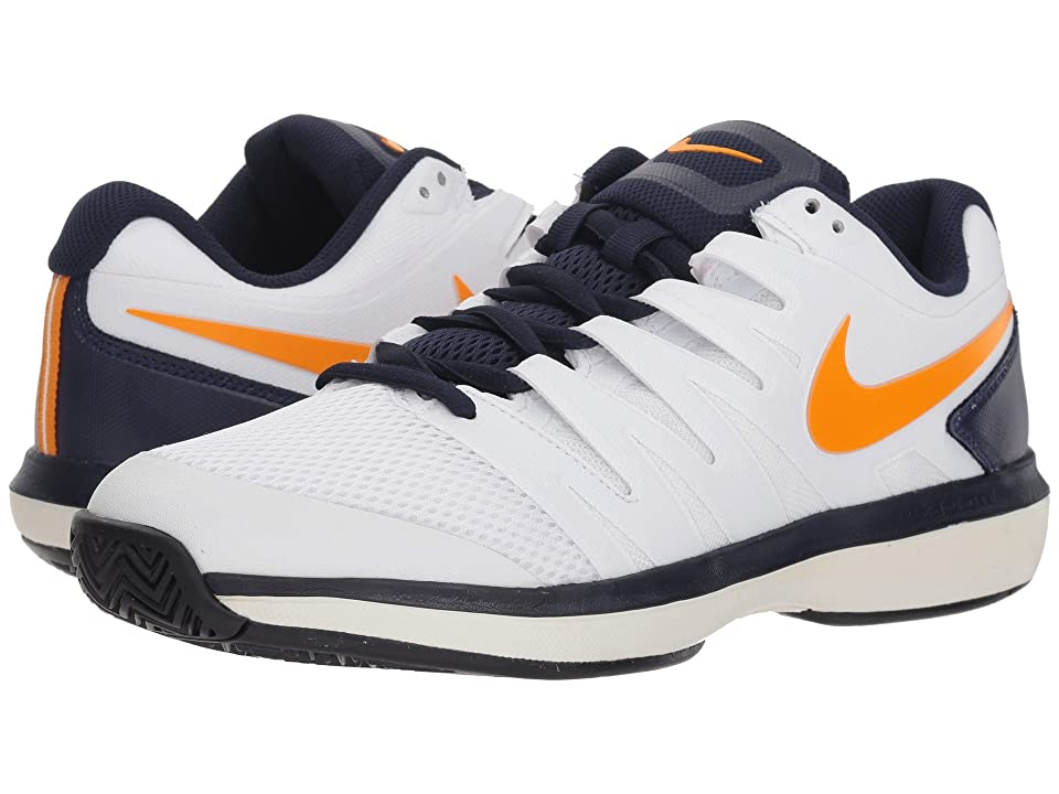 Nike Air Zoom Prestige (WhiteOrange PeelBlackened BluePhantom) Men's Tennis Shoes