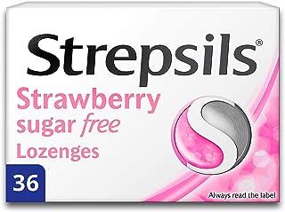 Strepsils Strawberry Sugar Free 36 Lozenges
