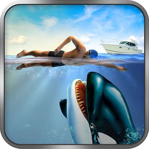 Asesina orca azul ataque de ballenas sim 3D: juego de ballenas