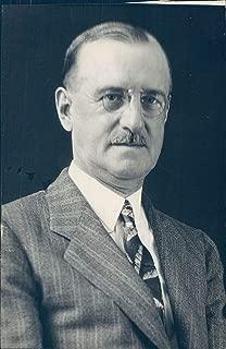 1930 Photo Malcolm Lockhart Portrait Vintage Glasses Suit Tie Historic Rare 5x7