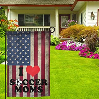 I Love Soccer Moms 12.5 X 18inch Double Sided Vibrant Garden Seasonal Home Flag For Party Yard Home Outdoor Decor