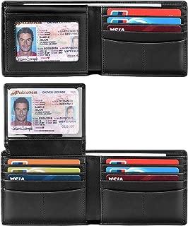 Wallet for Men-Bifold Slim Wallets Front Pocket Wallet With Effective RFID Blocking & 2 ID Windows