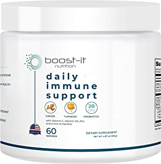 Sponsored Ad - boost-it nutrition - Organic & Natural Daily Immune Support (60-Day Supply) - Ginger, Turmeric, Probiotics,...