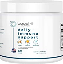 boost-it nutrition - Organic & Natural Daily Immune Support (60-Day Supply) - Ginger, Turmeric, Probiotics, Vitamin C, D3,...