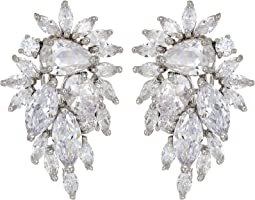 Cluster Omega Clip Earrings