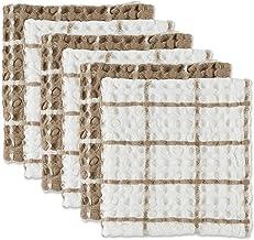 مجموعة DII من الوافل المغسول ذات الحجم الكبير والامتصاص الفائق، طقم من قطعة من القماش المطبوع، 12 × 12، حجر 6 قطع