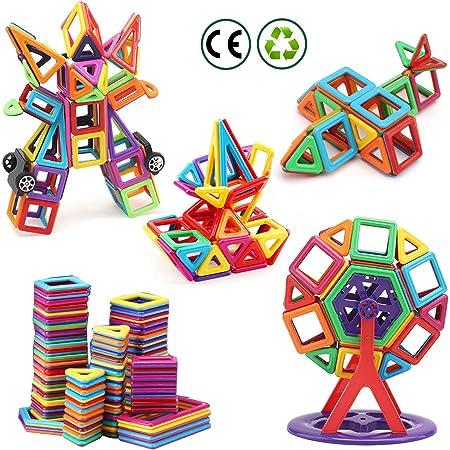 nicknack Mni Bloques magneticos magneticos, 116 Piezas Juguetes construcciones magneticas para Niños, Bloques Magnéticos 3D Juguetes Construcción para Niños Niñas