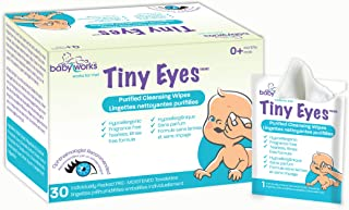 Baby Works - Baby Eye Wipes, Purified Cleansing Wipes, for Eyelids & Eyelashes, Hypoallergenic & Sensitive - 30 Count