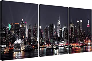 Wallfillers 3187 Lienzo del skyline de Nueva York, tama&