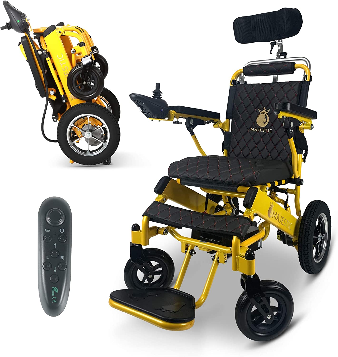 2021 New Max 55% OFF Lightweight Foldable Factory outlet Wheelchair Electr Control Remote -