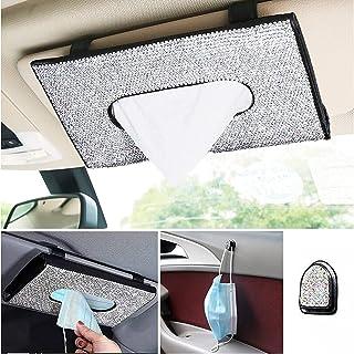 BLBGDD Bling car Tissue Holder Visor Tissue Holder for car Bling car Accessories for Women Interior Cute Automotive Diamon...