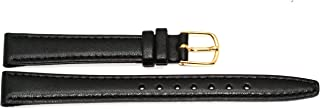 ladies black leather watch bands