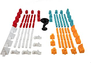 Build3D Replacement Pieces for Settlers of Catan - 4 Empires - Chinese Empire - Roman Empire - Incan Empire - Egyptian Empire - Replacement Catan Pieces for Full 4 Player Set
