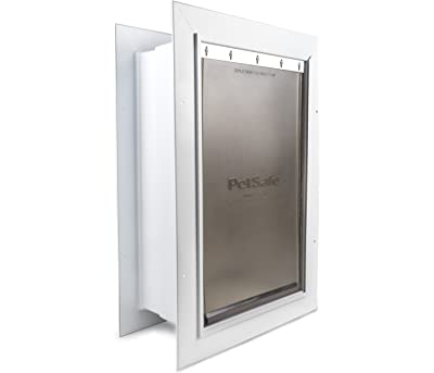 PetSafe Wall Entry Pet Door with Telescoping Tunnel, Pet Door for Dogs and Cats, Available in Small, Medium and Large