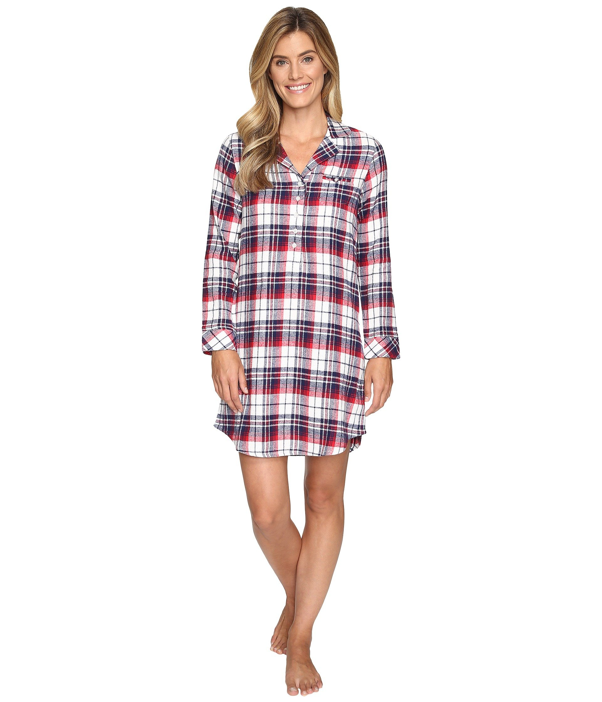 Babydoll Jockey Flannel Plaid Sleepshirt  + Jockey en VeoyCompro.net
