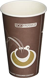 Eco-Products ECOEPBRHC16EWPK Evolution World PCF Hot Cups, Post-Consumer Fiber, Recycled, 16 oz (Pack of 50)