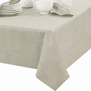 Newbridge Penington Solid Woven No-Iron Soil Resistant Fabric Tablecloth - 60 X 84 Oblong - Ivory