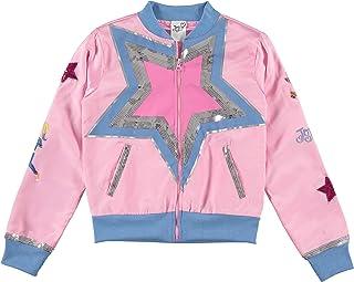 Jojo Siwa Girls' Sequins Light Weight Bomber Jacket with Jojo Heart Infinity Star Logo