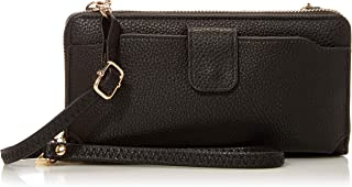 Amazon Essentials Wristlet Wallet for Women (with cell phone pocket & removable cross-body strap)