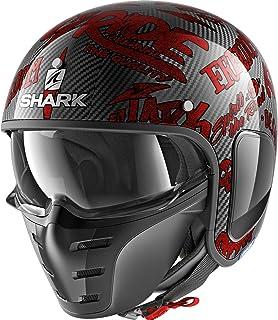 Shark Motorradhelm S DRAK CARBON FREESTYLE CUP DRR, Schwarz/Rot, XL