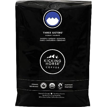 Amazon.com : Kicking Horse Coffee, Three Sisters, Medium Roast, Whole Bean, 2.2 Pound - Certified Organic, Fairtrade, Kosher Coffee : Roasted Coffee Beans : Grocery & Gourmet Food