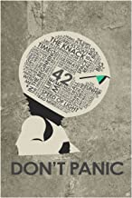 Hitchhiker's Guide to The Galaxy. Don't Panic Word Art Print Poster (12