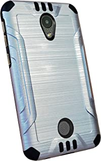 DALUX Combat Phone Case Compatible with Coolpad Legacy S - Silver/Black