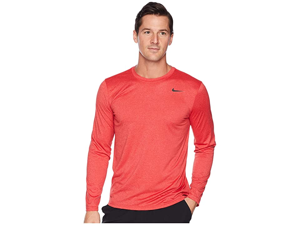 Nike Legend 2.0 Long Sleeve Tee (Light University Red Heather) Men