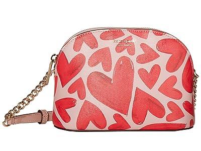 Kate Spade New York Spencer Ever Fallen Small Dome Crossbody (Tutu Pink) Handbags