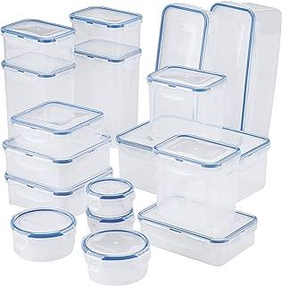 Lock & Lock HPL826S19 38-Piece Plastic Storage Container Set, Clear