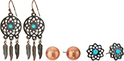 Blazin Roxx 3-Pair Earring Set