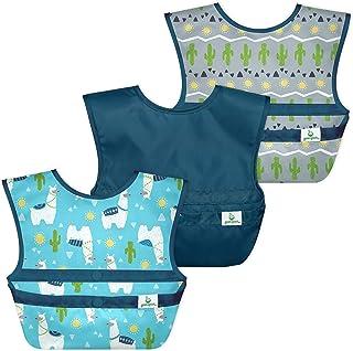 Green Sprouts - Snap & Go Easy-wear Bibs (3 Pack) - Aqua Llamas - 9-18m
