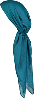Large Head Wrap Scarf -Soft Lightweight Easy Tie Square Chemo Scarves -by