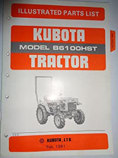 Kubota B6100HST Tractor Parts Catalog Book Manual Original 2/81