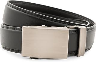 """Anson Belt & Buckle - Men's 1.25"""" Classic Gunmetal Buckle with Ratchet Belt Strap"""