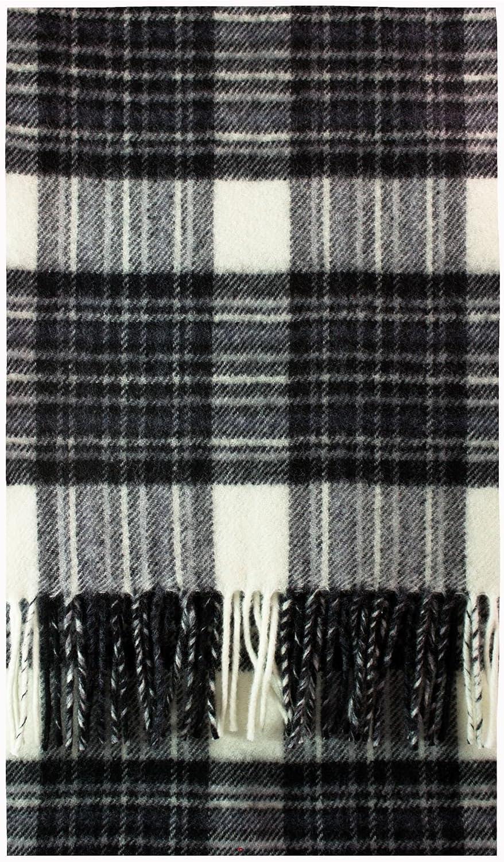 Stewart Dress Grey Tartan Luxury Brushwool Scarf