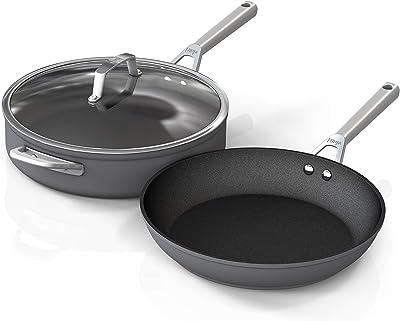 Ninja C33000 Foodi NeverStick Cookware Set, 3 Piece, Slate Grey