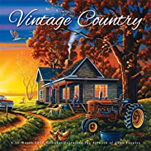 Vintage Country 2020 12 x 12 Inch Monthly Square Wall Calendar by Hopper Studios Featuring Artwork by Lynn Garwood, Cars and Trucks Art Artist
