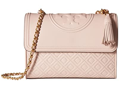 Tory Burch Fleming Convertible Shoulder Bag (Shell Pink) Shoulder Handbags
