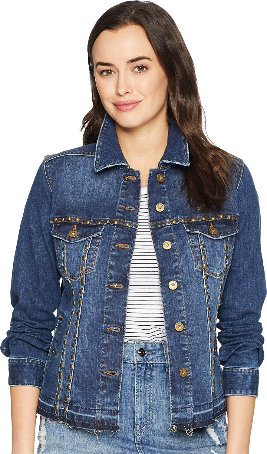 Liverpool Womens Studded Jean Jacket