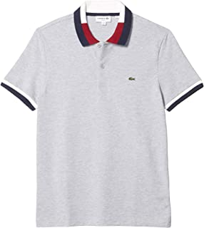 Short Sleeve Slim Fit Polo with A Semi Fancy Collar and...