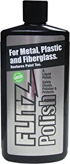 Flitz LQ 04535 Multi-Purpose Polish and Cleaner Liquid for Metal, Plastic, Fiberglass, Aluminum, Jewelry, Sterling Silver: for Headlight Restoration + Rust Remover, 3.4 oz