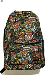 Marvel Funko Classic Comic Book Cover Collage 18 inch Padded Backpack - 2 Compartment