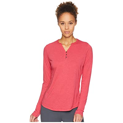 24635a35a6bb0f Royal Robbins Merinoluxtm Henley Long Sleeve (Rose Red) Women's Long Sleeve  Pullover