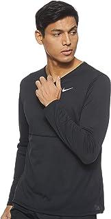 Nike Men's Breathe Run Ls T-Shirt, Black (Black/Reflective Silver)