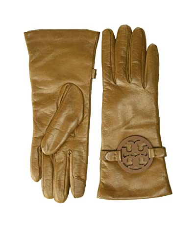 Tory Burch Miller Leather Gloves (Moose) Over-Mits Gloves