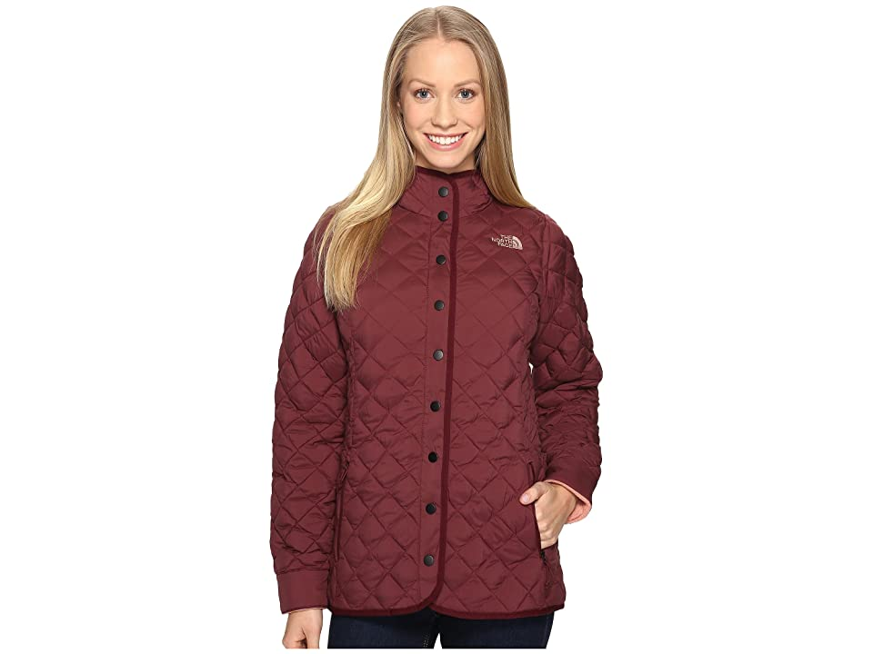The North Face ThermoBall Fur Hoodie (Deep Garnet Red (Prior Season)) Women