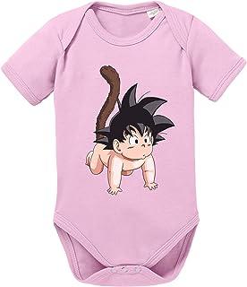 Sambosa Son Baby Dragon Ball Strampler Bio Baumwolle Body Jungen & Mädchen 0-12 Monate