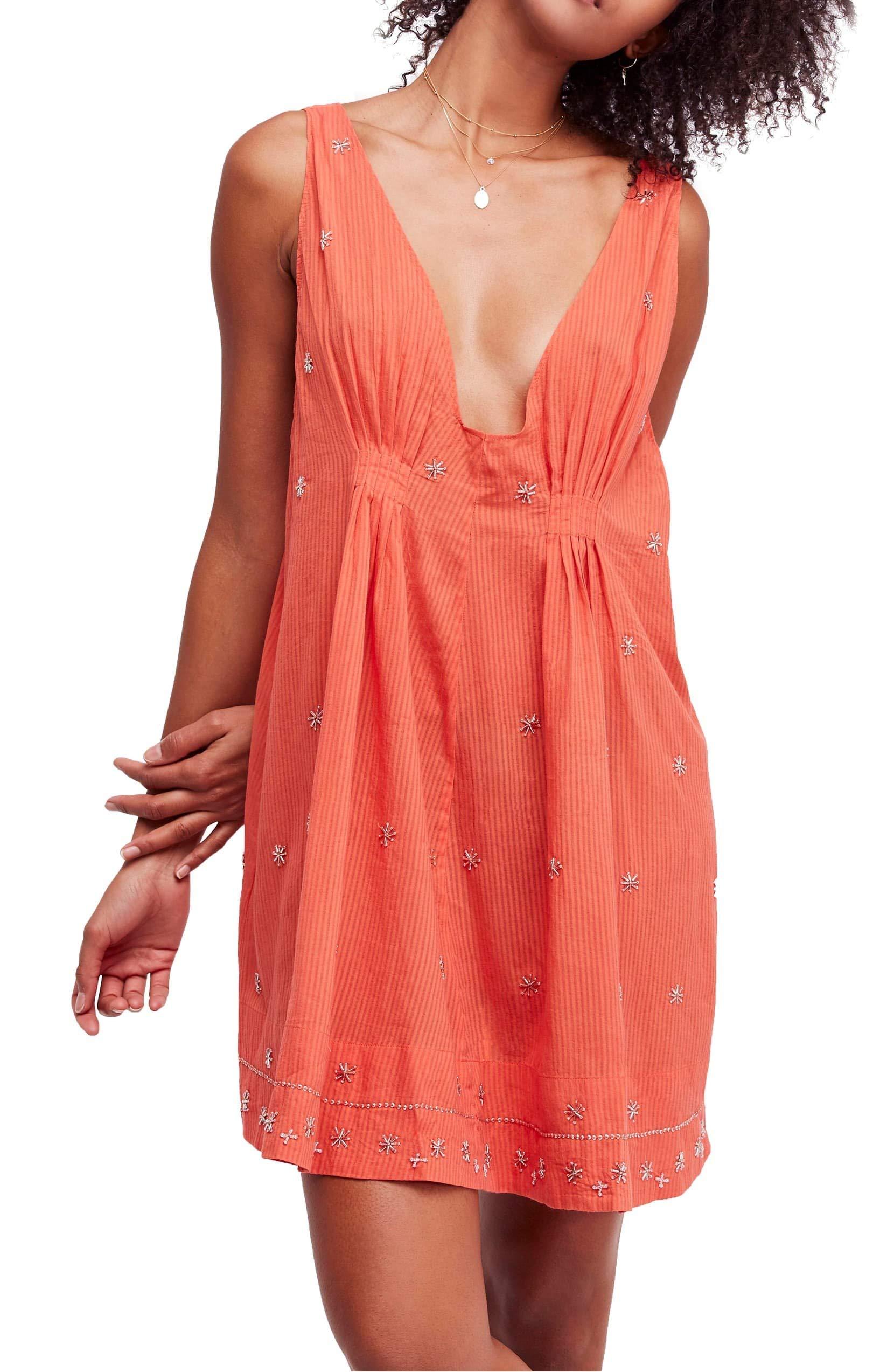 Available at Amazon: Free People Intimately Women's Crushin On You Beaded Boho Mini Dress
